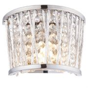 Sophia Wall Light in Polished Chrome with Crystal Beads - ENDON 76698